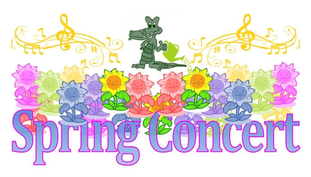Spring Concert is Wednesday, May 22nd.